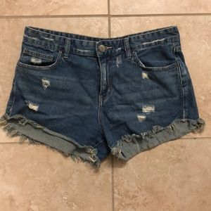 Ripped free people shorts
